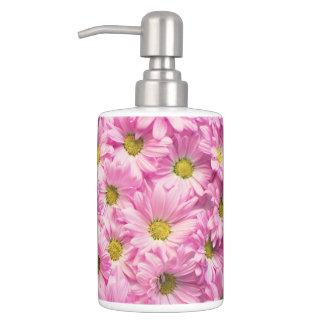 Vanity Set - Pink Gerbera Daisies