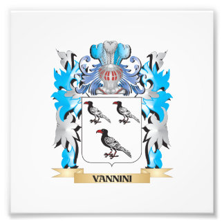 Vannini Coat of Arms - Family Crest Photo Print