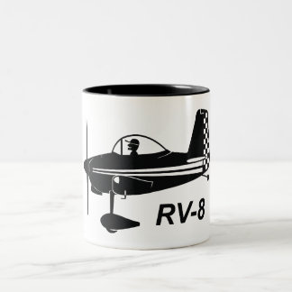 Vans RV-8 Caricature Two-Tone Coffee Mug