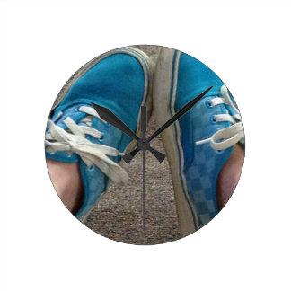vans shoes blue clocks
