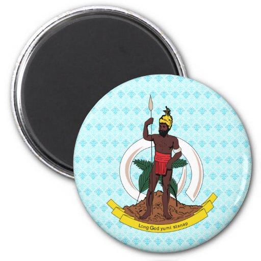 Vanuatu Coat of Arms detail Fridge Magnet