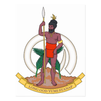 Vanuatu Coat of Arms Postcard