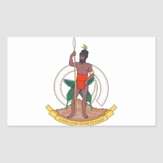 Vanuatu Coat of Arms Rectangular Sticker