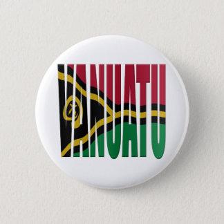 Vanuatu flag 6 cm round badge