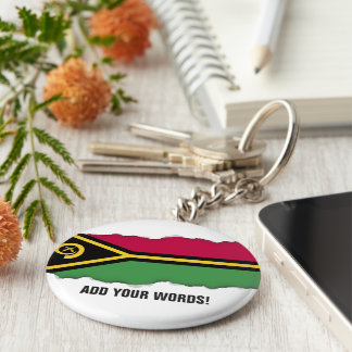 Vanuatu Flag Basic Round Button Key Ring