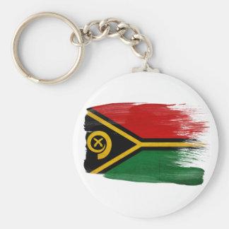Vanuatu Flag Basic Round Button Key Ring