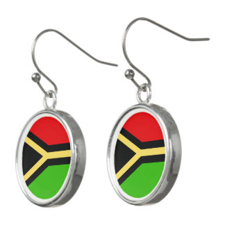 Vanuatu Flag Earrings