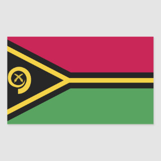 Vanuatu Flag Rectangular Sticker