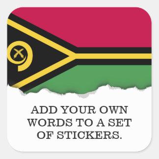 Vanuatu Flag Square Sticker
