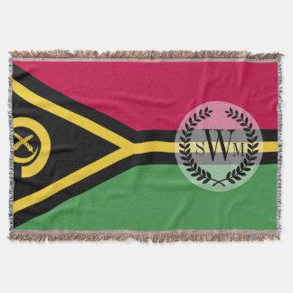 Vanuatu Flag Throw Blanket