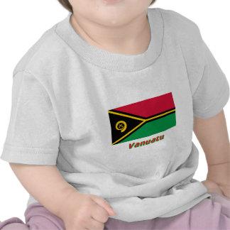 Vanuatu Flag with Name Tee Shirt