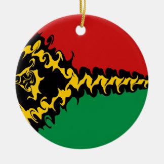 Vanuatu Gnarly Flag Christmas Tree Ornament