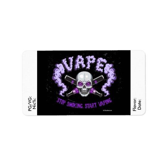 Vape | DIY E-Juice Label Purple Skull  by VapeGoat Address Label