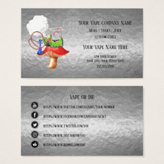 VAPE  | Hookah Silver Business Social Media Business Card