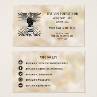 VAPE  | I Vape I am Business Social Media Business Card