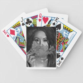 Vape Lady Smoking Hot Design Bicycle Playing Cards