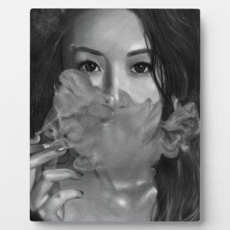 Vape Lady Smoking Hot Design Photo Plaques