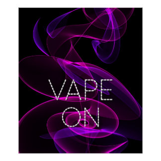 Vape On Dark Pink Smoke  Poster Print