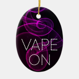 Vape On Pink Purple Grunge Smoke Ceramic Ornament