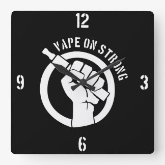 Vape On Strong Square Wall Clock