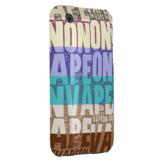 Vape On Typography Tan Turquoise iPhone 3 Case-Mate Case
