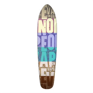 Vape On Typography Tan Turquoise Skate Board