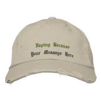 Vape | the VapeGoat  Custom Distressed Baseball Ca Embroidered Hat