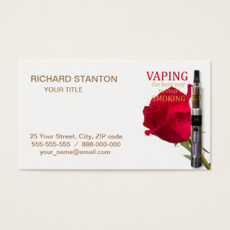 Vaping is the best way to stop smoking business card
