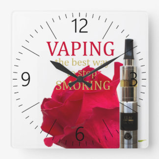 Vaping is the best way to stop smoking square wall clock