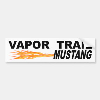 Vapor Trail Mustang Bumper Sticker