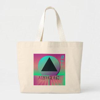 vaporwave aesthetic large tote bag