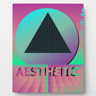 vaporwave aesthetic plaque