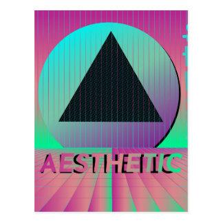 vaporwave aesthetic postcard