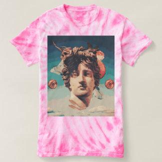Vaporwave Aesthetic Statue Women Tie Dye Shirt