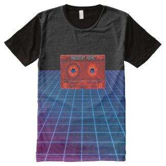 Vaporwave Nascent Meme Cassette All-Over Print T-Shirt