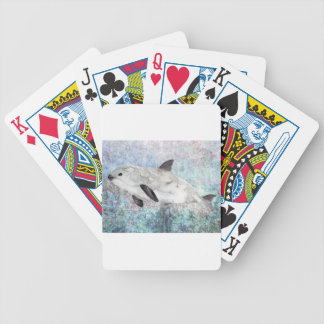 Vaquita River Dolphin Endangered Animal Painting Bicycle Playing Cards