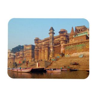 Varanasi India As Seen From Ganga River Rectangular Photo Magnet