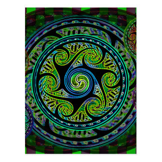 Variated Spheres Vibrant Celtic Knot Postcard