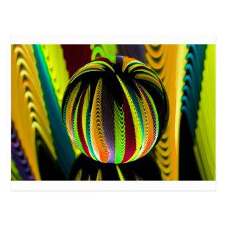 Variation ColoursI in Ball Postcard