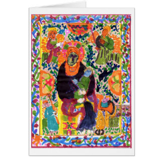 Variation on Madonna & Child note card (greeting)