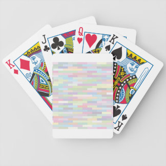 varicolored pattern bicycle playing cards