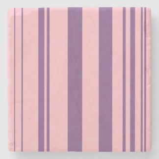 Varied Stripes/Pink & Purple Stone Coaster