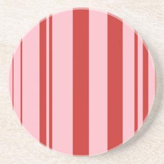Varied Stripes/Pink & Red Coaster
