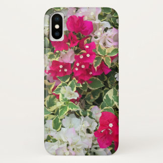 Variegated Bougainvillea iPhone X Case
