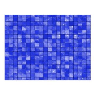 Variegated cobalt Blue Tile Pattern Postcard
