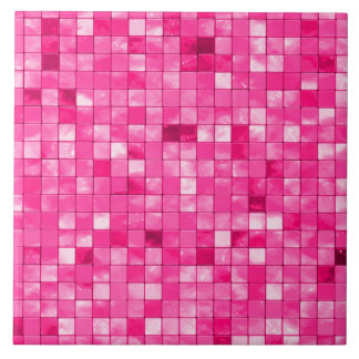Variegated Girly Fuchsia Geometric Tile Pattern