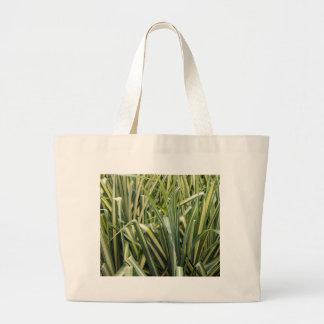 Variegated Sedge Grass Large Tote Bag