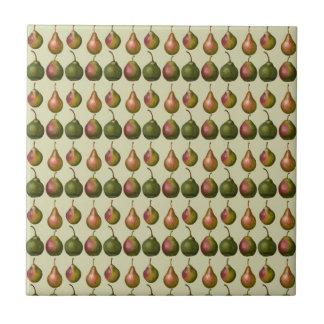 Varieties of Pears Ceramic Tile