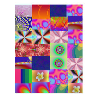 Variety Collage Patterned Postcard