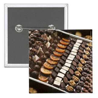 Variety of Artisanal Chocolate Pralines Pinback Buttons